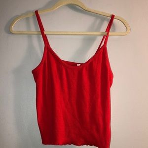 Pacsun red singlet top cropped